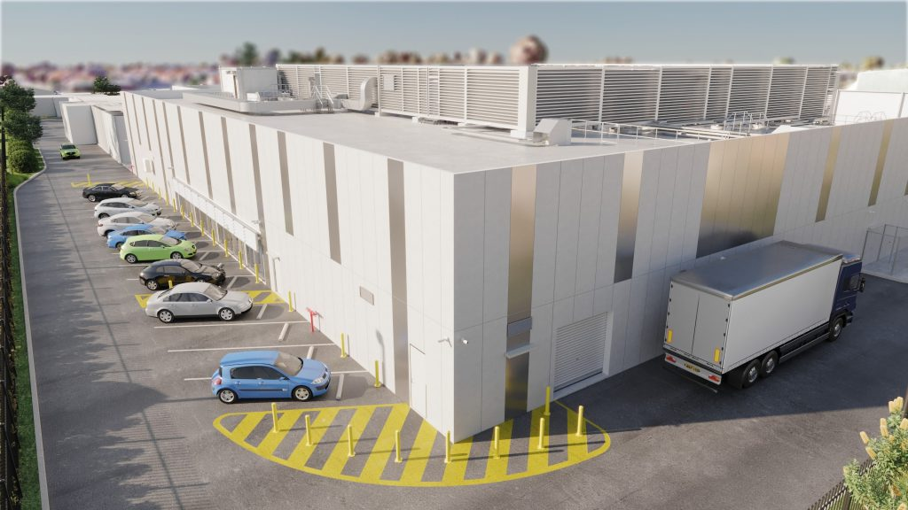 Artist impression of ADL02 – South Australia's first TIER-Ready III, secure cloud edge data centre